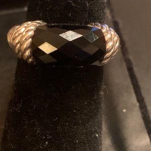 Judith Ripka black onyx ring size 7